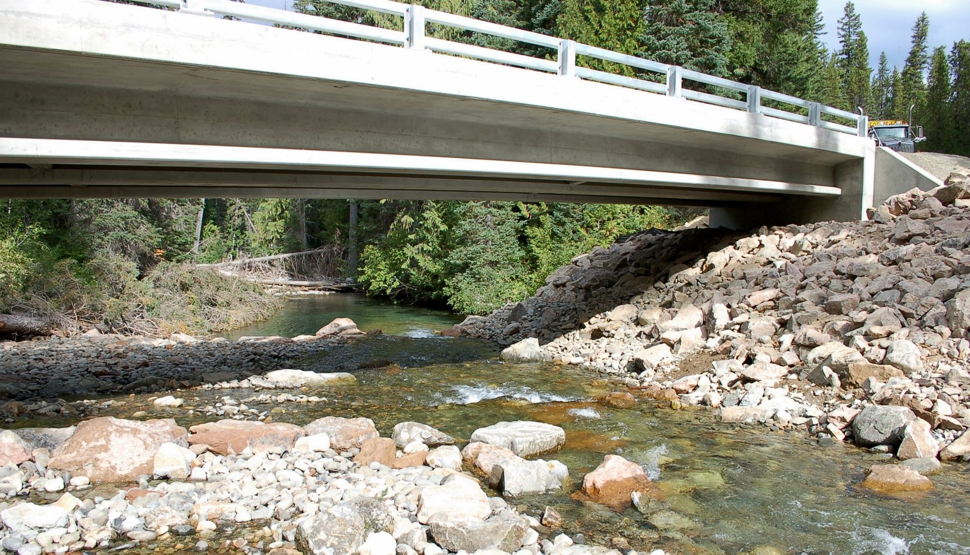 Bridge Over Restored Streambank